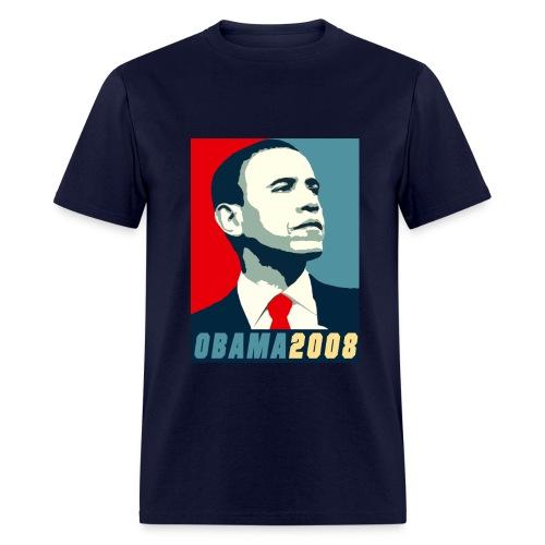 Obama- Navy - Men's T-Shirt
