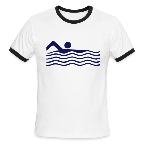 Swimmer - Men's Ringer T-Shirt
