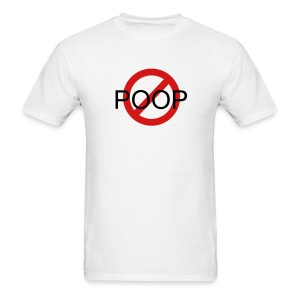 NO PooP design tee - Men's T-Shirt