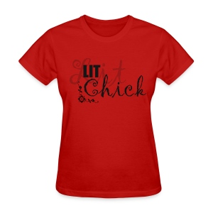 Red Lit Chick Tee - Women's T-Shirt