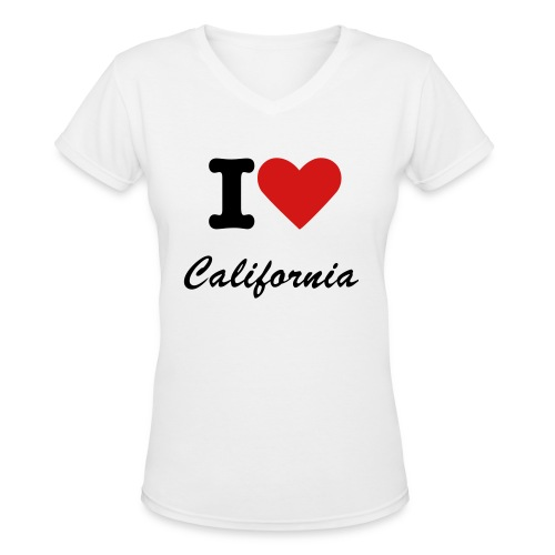 CaliforniaTees - Women's V-Neck T-Shirt