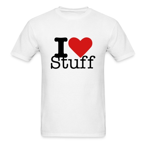 I heart stuff - Men's T-Shirt