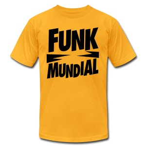 Funk Mundial Gold Shower - Men's T-Shirt by American Apparel