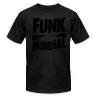 T-Shirts ~ Men's T-Shirt by American Apparel ~ Funk Mundial Black Is Black