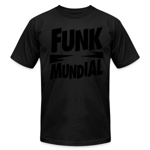 Funk Mundial Black Is Black - Men's T-Shirt by American Apparel