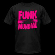 T-Shirts ~ Men's T-Shirt by American Apparel ~ Funk Mundial Pink Gothic
