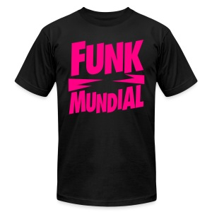 Funk Mundial Pink Gothic - Men's T-Shirt by American Apparel