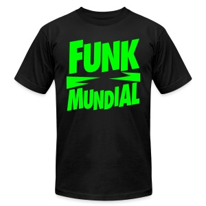 Funk Mundial Neon Gothic - Men's T-Shirt by American Apparel