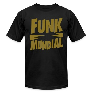 Funk Mundial Bling Gold Metallic - Men's T-Shirt by American Apparel