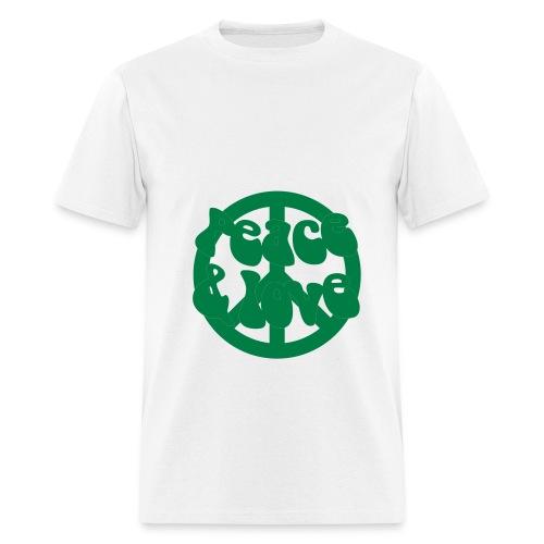 Peace, love & recycle - Men's T-Shirt