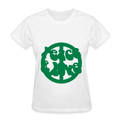 Peace, love & recycle - Women's T-Shirt
