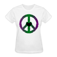 Women's T-Shirts ~ Women's T-Shirt ~ Flowery Peace Sign