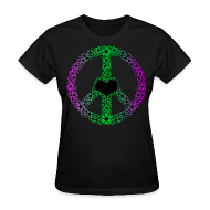 T-Shirts ~ Women's T-Shirt ~ Flowery Peace Sign
