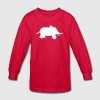 Red baby elephant Kids Shirts - Kids' Long Sleeve T-Shirt