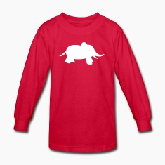 Red baby elephant Kids Shirts