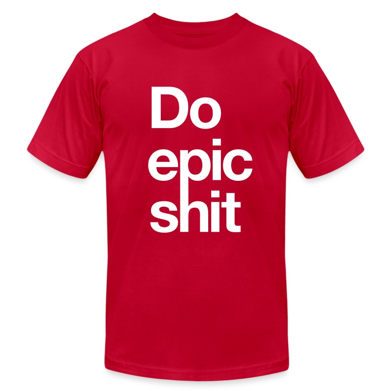 Epic (RED) - Men's T-Shirt by American Apparel