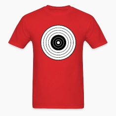 Red round_target_06 T-Shirts (Short sleeve)