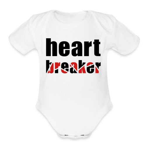 Heartbreaker One size - Organic Short Sleeve Baby Bodysuit