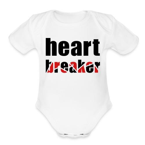 Heartbreaker One size - Organic Short Sleeve Baby Bodysuit
