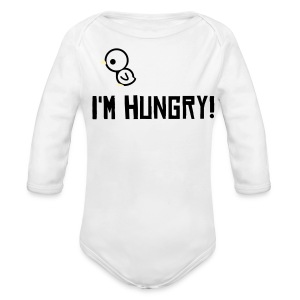 I'm hungry! - Long Sleeve Baby Bodysuit