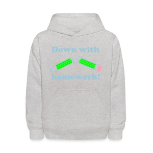 down with homework - Kids' Hoodie