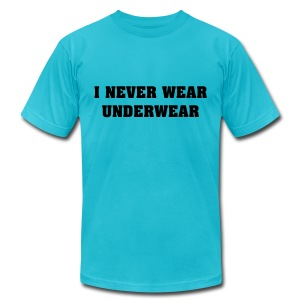 No Underwear - Men's T-Shirt by American Apparel