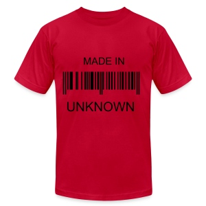 DONT KNOW WHERE I WAS BORN - Men's Fine Jersey T-Shirt