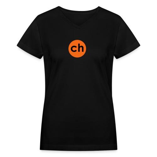Dot - Women's V-Neck T-Shirt