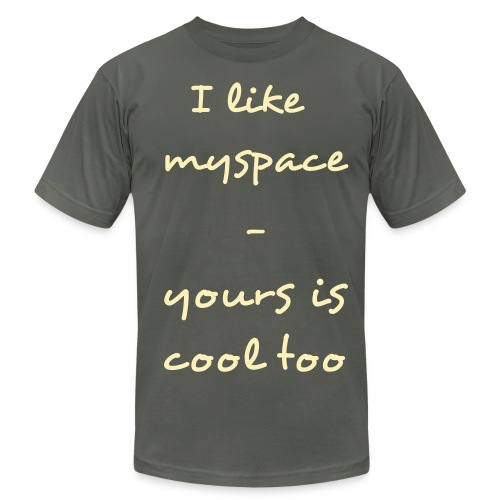 myspace - Men's Fine Jersey T-Shirt