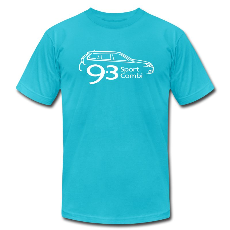 Saab 9-3 Sport Combi (MY2008) - Men's T-Shirt by American Apparel