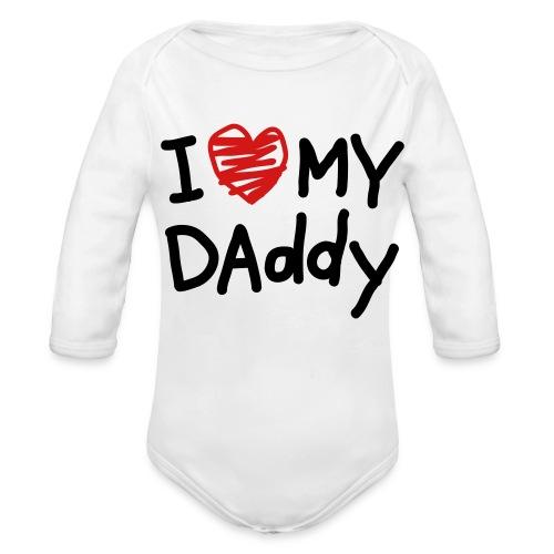Love Daddy - Organic Long Sleeve Baby Bodysuit