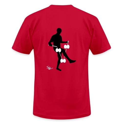 3d around leg red - Men's  Jersey T-Shirt