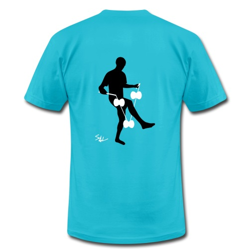3d around leg blue - Men's Fine Jersey T-Shirt