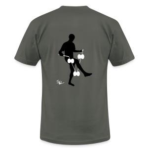 3d around leg asphalt - Men's Fine Jersey T-Shirt