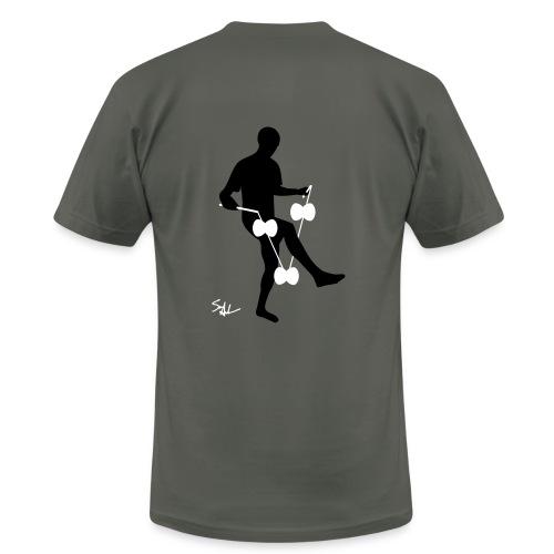 3d around leg asphalt - Men's  Jersey T-Shirt