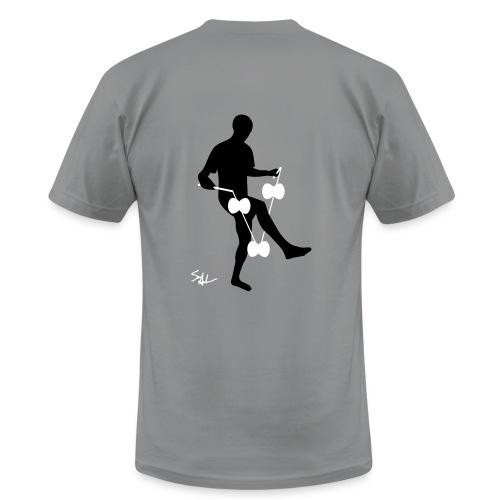 3d around leg grey - Men's Fine Jersey T-Shirt