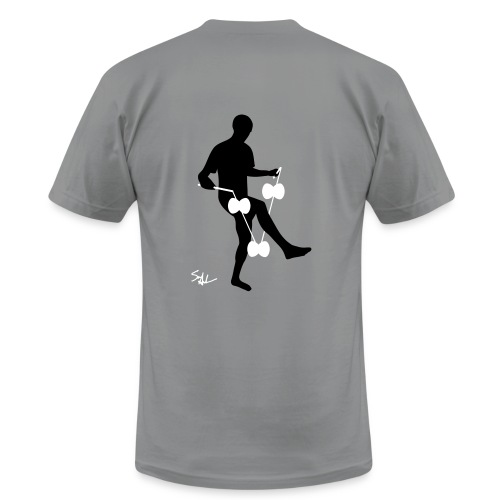 3d around leg grey - Men's Fine Jersey T-Shirt