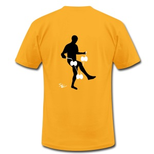 3d around leg yellow - Men's T-Shirt by American Apparel