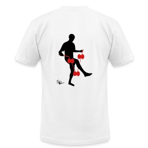 3d around leg white - Men's Fine Jersey T-Shirt
