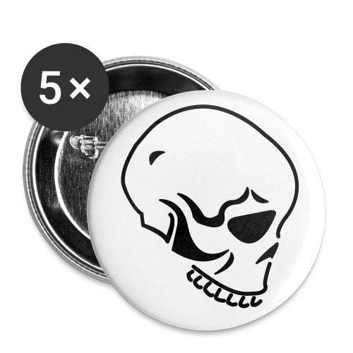 Skull Button - Buttons large 2.2'' (5-pack)