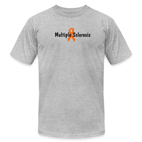 Multiple Sclerosis T-$1 of each T goes to support MS research - Men's Fine Jersey T-Shirt