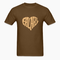 Brown Falafel Love Heart T-Shirts (Short sleeve)