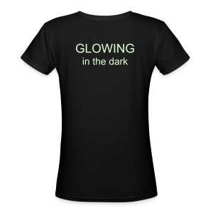GLOWING in the dark - Women's V-Neck T-Shirt