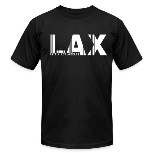 Los Angeles airport code LAX Fitted T-Shirt - Men's Fine Jersey T-Shirt