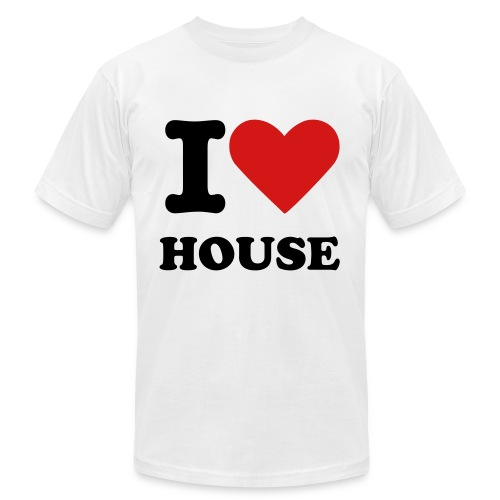I Love House (Men) T-shirt - Men's Fine Jersey T-Shirt