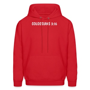Colossians 3:16 - White Text Unbranded - Men's Hoodie