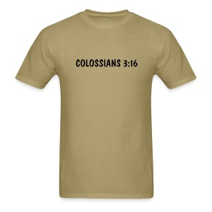 Colossians 3:16 - Black Text Unbranded - Men's T-Shirt