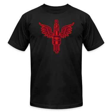 Black spark plug T-Shirts (Short sleeve)