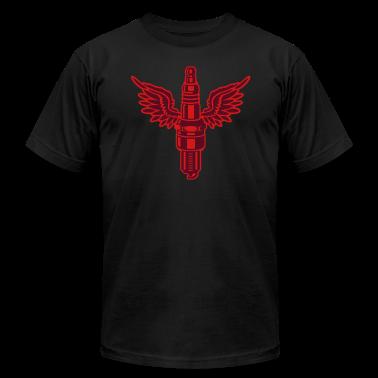 Black spark plug T-Shirts (Short sleeve)