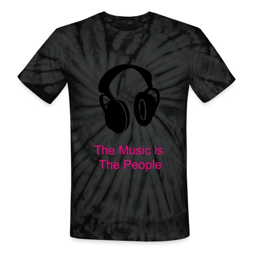 Music is the People Tie-Dye Tee - Unisex Tie Dye T-Shirt